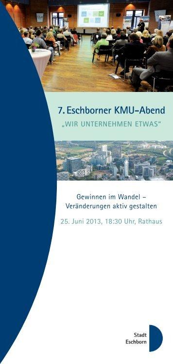 """7. Eschborner KMU-Abend """"Wir unternehmen etwas"""""""
