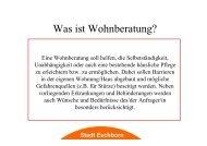 Präsentation Wohnberatung - Stadt Eschborn