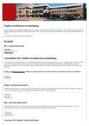 Stadtverordnetenversammlung Kontakt ... - Stadt Eschborn