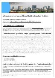Informationen rund um das Thema Fluglärm in und ... - Stadt Eschborn
