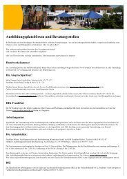 Ausbildungsplatzbörsen und Beratungsstellen