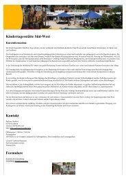 Kindertagesstätte Süd-West Kontakt Formulare