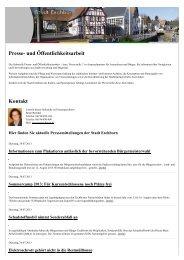 Presse- und Öffentlichkeitsarbeit Kontakt - Stadt Eschborn