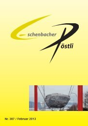 Nr. 387 / Februar 2013 - Gemeinde Eschenbach Luzern