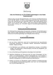 Satzung über die Erhebung von Erschließungsbeiträgen in der - SG ...