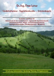 Dr.-Ing. Claas Leiner: Praxis für Landschaft + ... - Eschenlaub.de