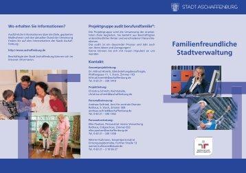 Familienfreundliche Stadtverwaltung - Stadt Aschaffenburg