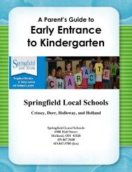 Early Entrance to Kindergarten - Educational Service Center of Lake ...