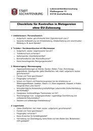 Checkliste für Metzgereibetriebe (PDF, 47 kb) - Stadt Aschaffenburg