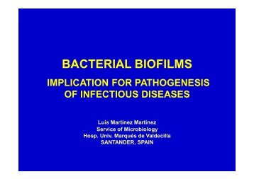 BACTERIAL BIOFILMS - European Society of Clinical Microbiology ...