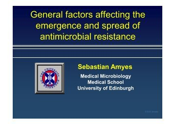 SGB Amyes - European Society of Clinical Microbiology and ...