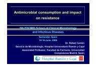 Antimicrobial consumption and impact on resistance - European ...
