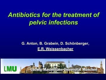 Antibiotics for the treatment of pelvic infections - European Society of ...