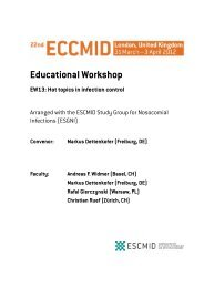 Educational Workshop - European Society of Clinical Microbiology ...