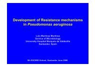 Development of Resistance mechanisms in Pseudomonas aeruginosa
