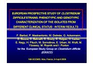 Presentation - European Society of Clinical Microbiology and ...