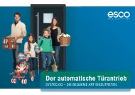 systeQ GO Endkundeninformation - esco Metallbausysteme GmbH