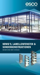 EUROLAM Lamellenfenster- systeme - esco Metallbausysteme GmbH
