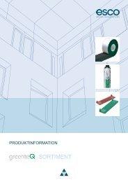 greenteQ_Produktinformation - esco Metallbausysteme GmbH