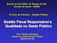 pilares da lei de responsabilidade fiscal - Escola de Governo ...