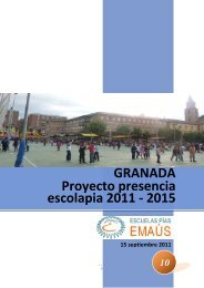 GRANADA Proyecto presencia escolapia 2011 - 2015 - Escolapios ...
