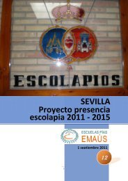 SEVILLA Proyecto presencia escolapia 2011 - Escolapios. Escuelas ...