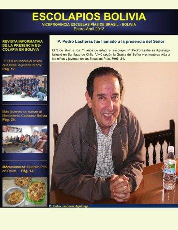 Revista Escolapios Bolivia abril 2013 - Escolapios. Escuelas Pías ...