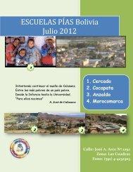 Info Bolivia Julio 2012 - Escolapios. Escuelas Pías Emaús