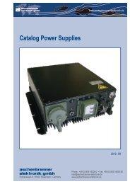 Catalog Power Supplies - Aschenbrenner Elektronik GmbH