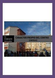 Carácter Propio del.. - Escolapios. Escuelas Pías Emaús