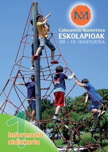 1ª Parte ESCOLAPIOS 08-09 - Escolapios. Escuelas Pías Emaús