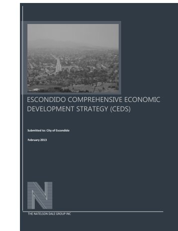 ESCONDIDO COMPREHENSIVE ECONOMIC ... - City of Escondido