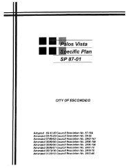 Palos Vista Specific Plan - City of Escondido