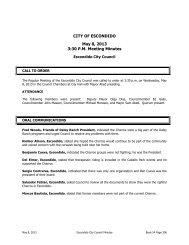 CITY OF ESCONDIDO May 8, 2013 3:30 P.M. Meeting Minutes