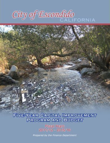 Fiscal Year Ended 6/30/12 - City of Escondido
