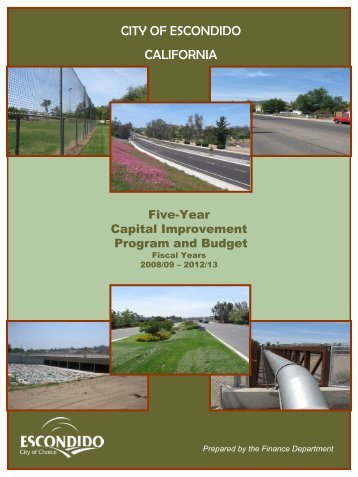 Fiscal Year Ended 6/30/09 - City of Escondido