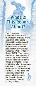 2001 Consumer Confidence Report - City of Escondido - Page 4