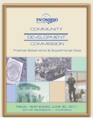annual financial report - City of Escondido