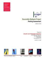 Escondido Ballpark Project Parking Assessment - City of Escondido