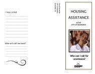 HOUSING ASSISTANCE - City of Escondido