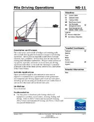 Pile Driving Operations