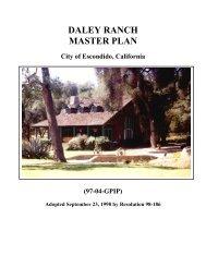 Daley Ranch Master Plan - City of Escondido