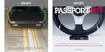 Passport SR7 Remote Owner's Manual - Escort Inc.