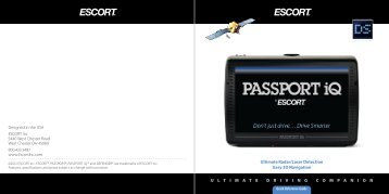 Passport iQ Quick Reference Guide - Escort Inc.