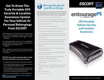 Download the ESCORT Entourage PS Product Brochure (PDF)