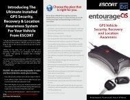 Download the ESCORT Entourage CIS Product Brochure (PDF)
