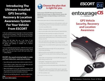 Download the ESCORT Entourage CIS Product Brochure (PDF)