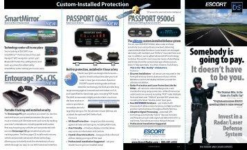 Download the ESCORT Product Brochure - Escort Inc.