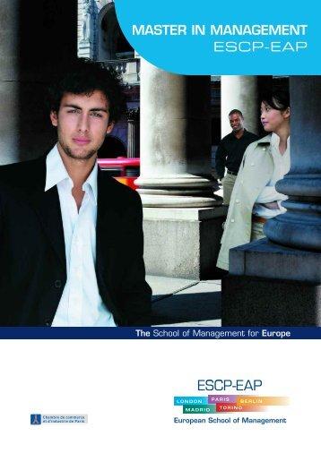 master in management - ESCP Europe