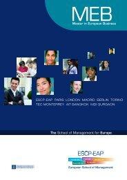int. MEB - ESCP Europe Business School